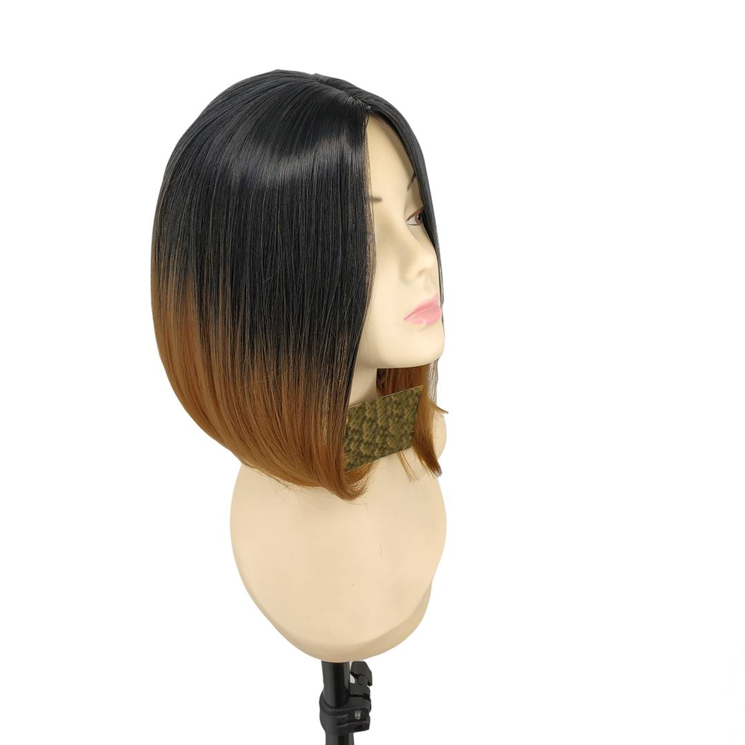 kısa küt fiber sentetik peruk